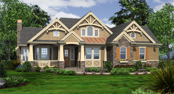 Careymoor 3249 3 bedrooms and 3 baths the house designers for Country craftsman home plans