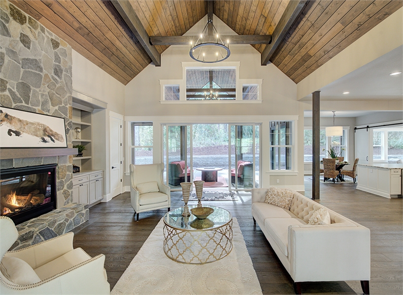 Traditional Lake House Plan With Vaulted Game Room Amp Quite Den