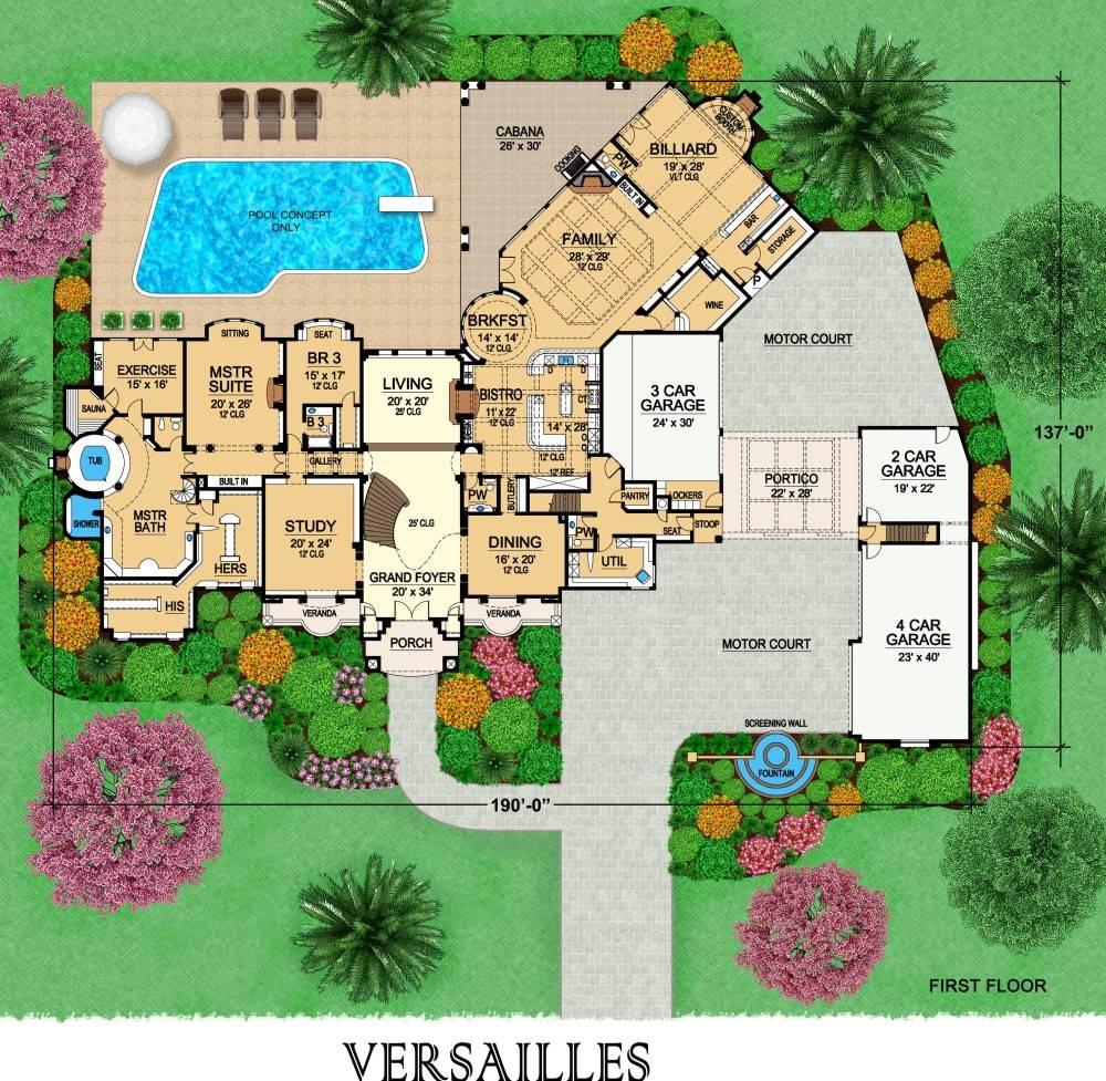 European Luxury House Plan