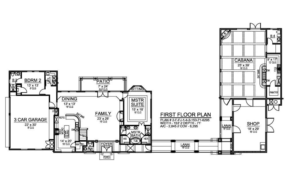 Luxury Villa House Plan With Cabana
