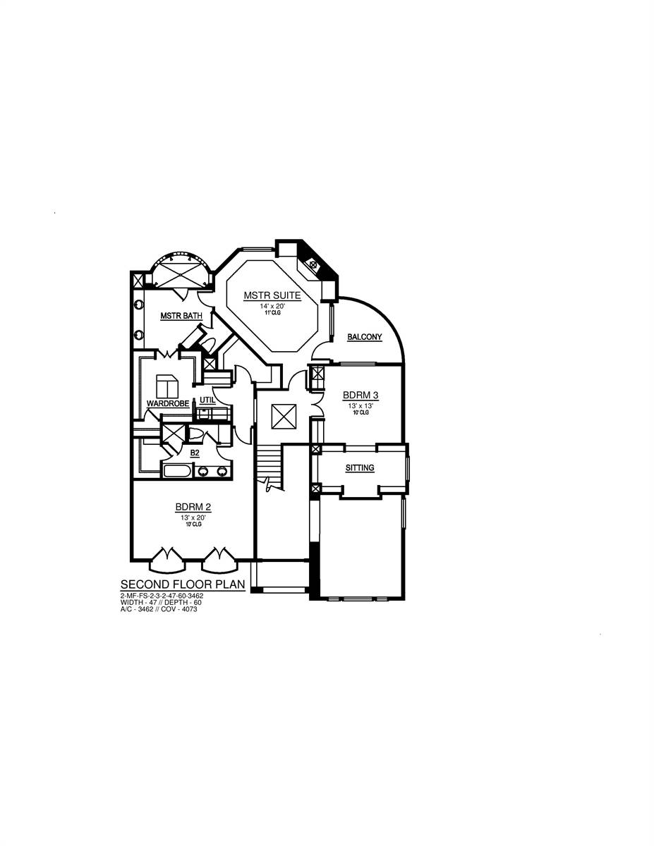 Abbey Woods 2 Bedroom Contemporary Style House Plan 7830