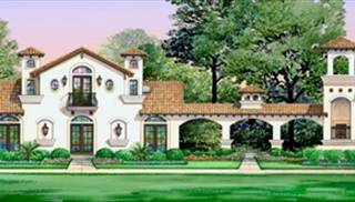 Spanish House Plans & European Style Home Designs by THD