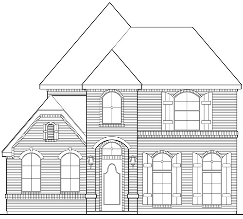 Zero lot line house plan with amenities for Zero lot line house plans