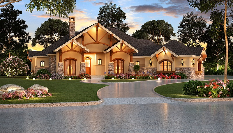 Large and Luxurious French Country Home Plan
