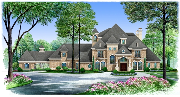 Gatlingburg 5471 5 bedrooms and 6 baths the house for House plans with portico garage