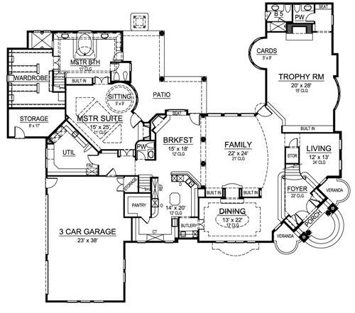 Corner lot luxury home design for Corner lot home plans