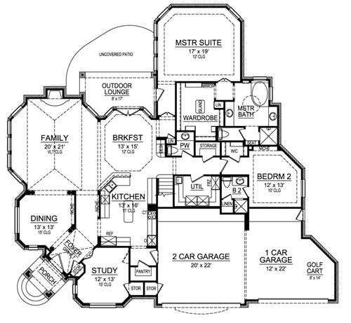 Bay House Plans horseshoe bay 4690 - 3 bedrooms and 3 baths | the house designers