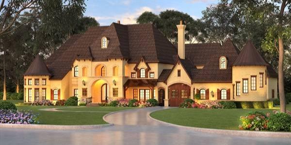 Five bedroom european house plan for Kingsbridge house