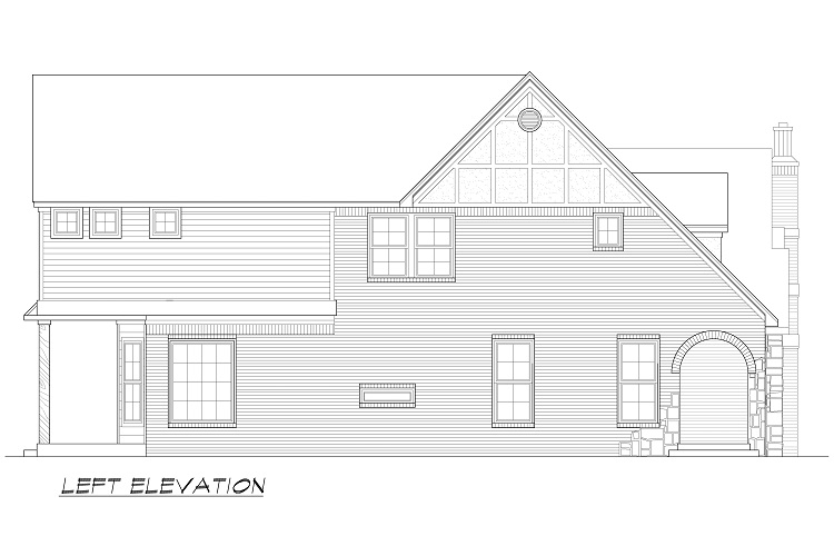 Left Elevation Plan : San gimignano bedrooms and baths the house