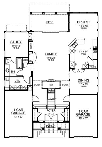 First Floor image of MISSION VIEJO House Plan
