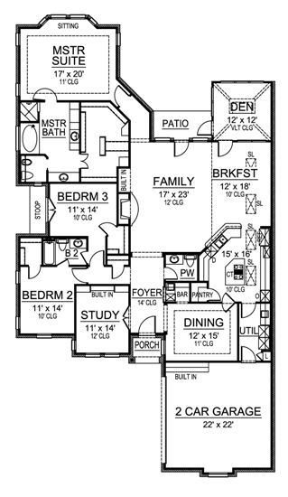 Traditional Narrow Lot Home Plan