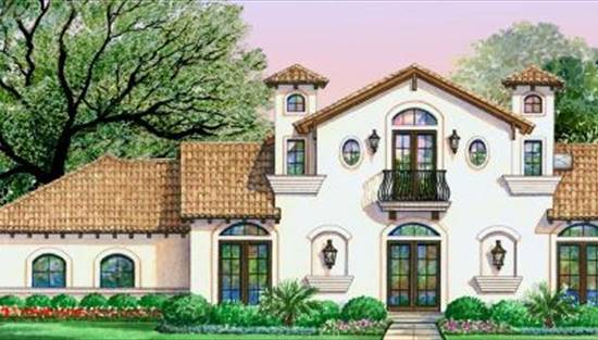 image of VILLA DI VINO PLACE House Plan