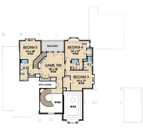 Westchester 5125 5 bedrooms and 5 5 baths the house for 1120 westchester place floor plan