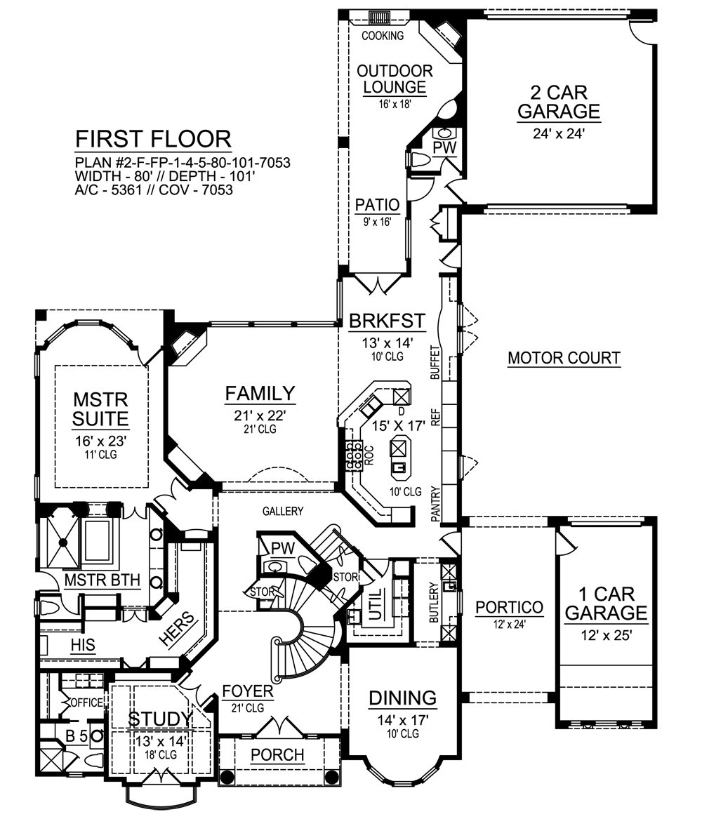 azalea 9450 4 bedrooms and 5 baths the house designers