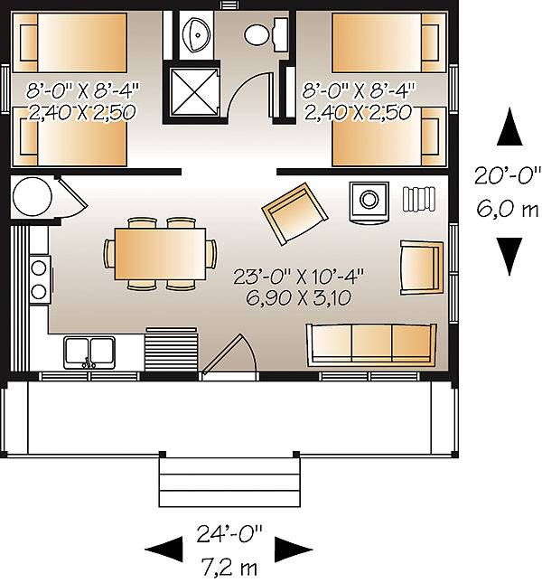 Ideal Fishing Camp Cabin Plan