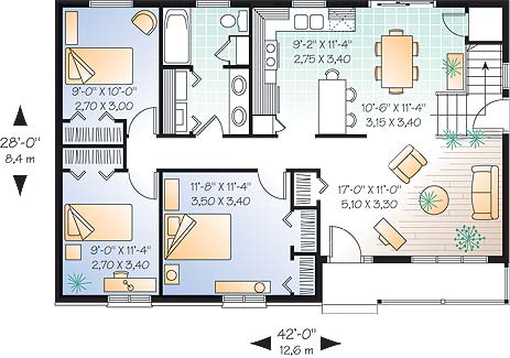 Cottage house plan Side split house plans