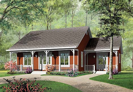 Inland cottage 3 3189 3 bedrooms and 1 5 baths the - Plan maison plain pied 1 chambre ...