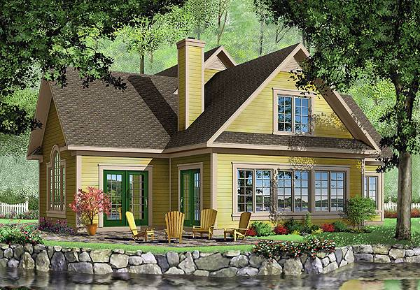Country house plan with bonus room for Maison laprise