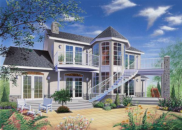 Dream beach house plan the house designers Beach house plans