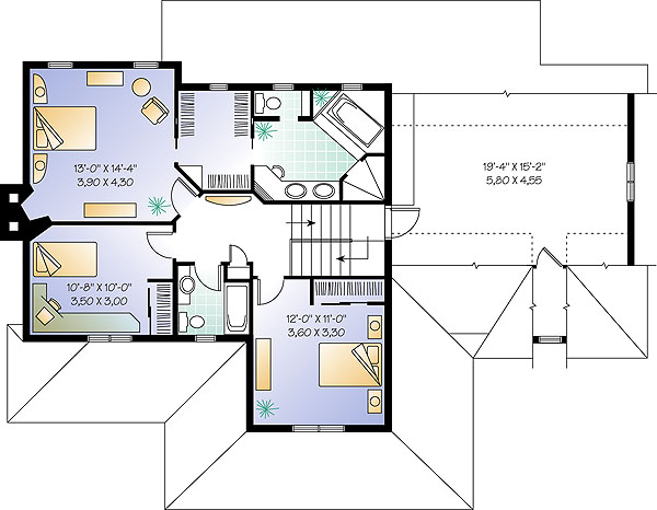 Second level image of The Ridgewood 1 House Plan