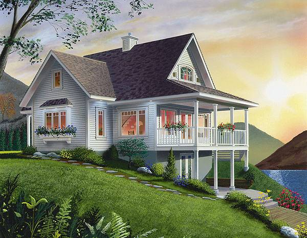 Best-selling coastal home plan