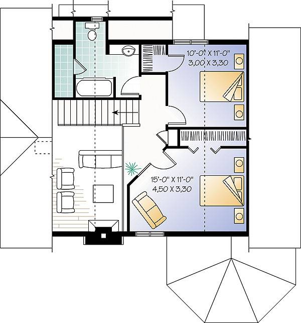 Second level image of The Sunburst 1 House Plan