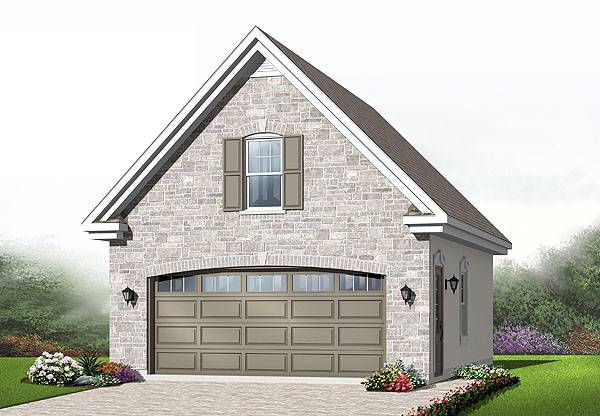 Two car garage plan with bonus room for Two car garage plans with bonus room
