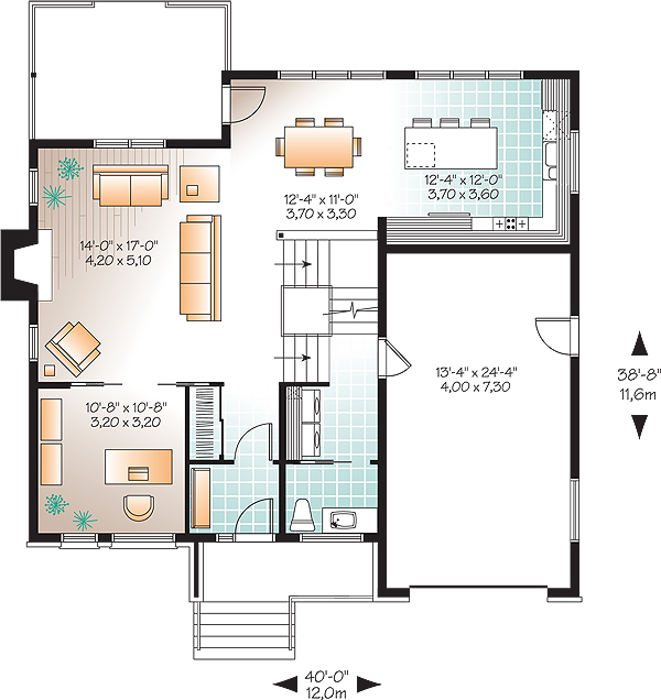 Parkview 3202 3 bedrooms and 2 baths the house designers for Parkview homes floor plans
