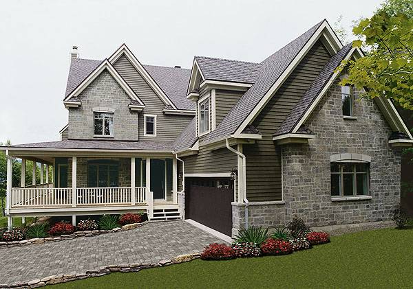 Country Two Story House Plan 1352 The Turningdale