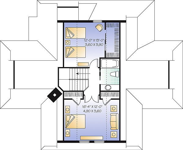 Second level image of The Pocono House Plan