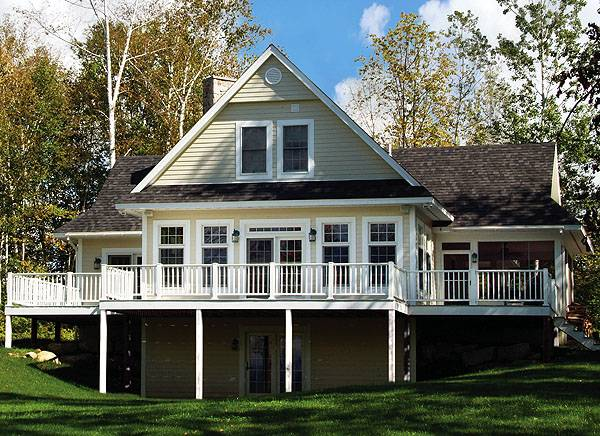 Panoramic Chalet Style With Large Terrace Screened Porch
