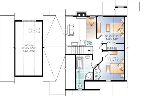 Cool The Wynstone 2 3286 3 Bedrooms And 2 Baths The House Designers Inspirational Interior Design Netriciaus