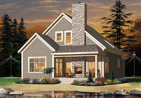 Another option in the small cabin house plans