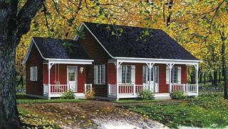 Image Of Inland Cottage 2 House Plan. 946 Sq Ft