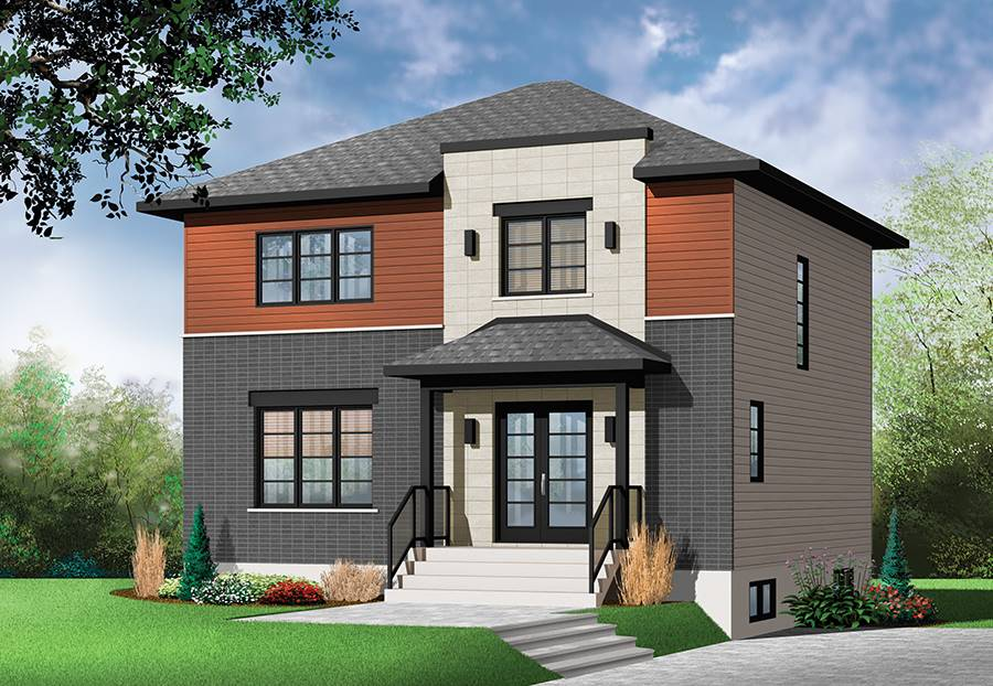 two-storey modern house plan