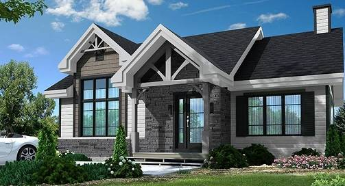House Plan 4705: Small Craftsman with High End Features