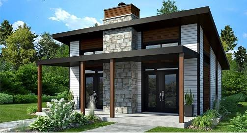 Affordable Tiny Style House Plan 4709: Bonzai