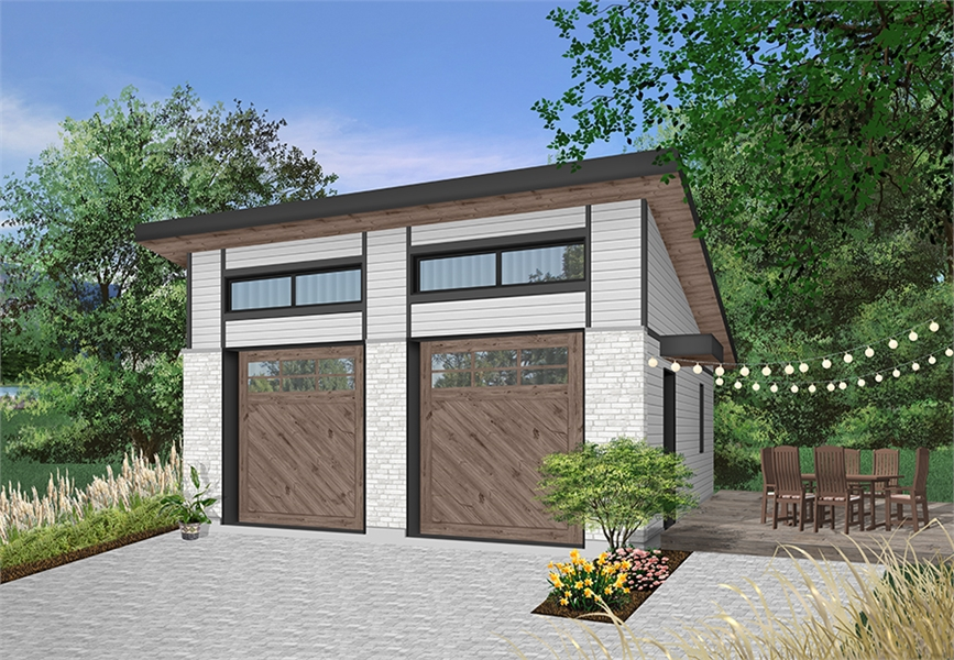 Contemporary Style Two Car Garage Plan 4930 Urban Nature 4
