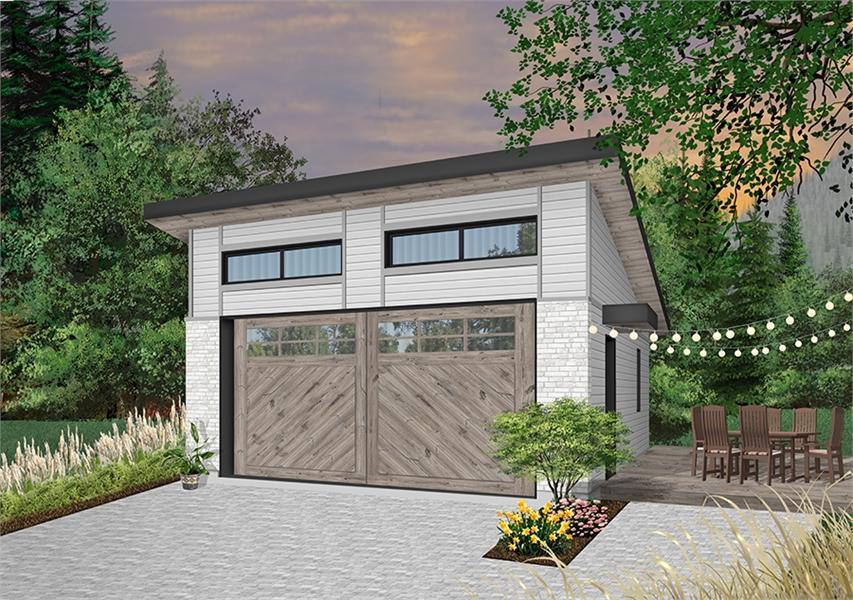 Contemporary Style Garage Plan 6265 Urban Nature 3