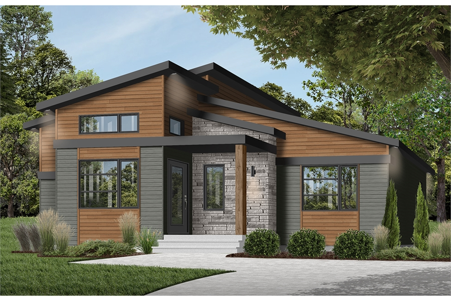 Bungalow House Plan - Front Elevation