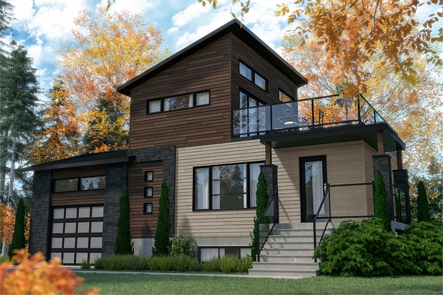 Modern Style House Plan 7561 Joshua 2