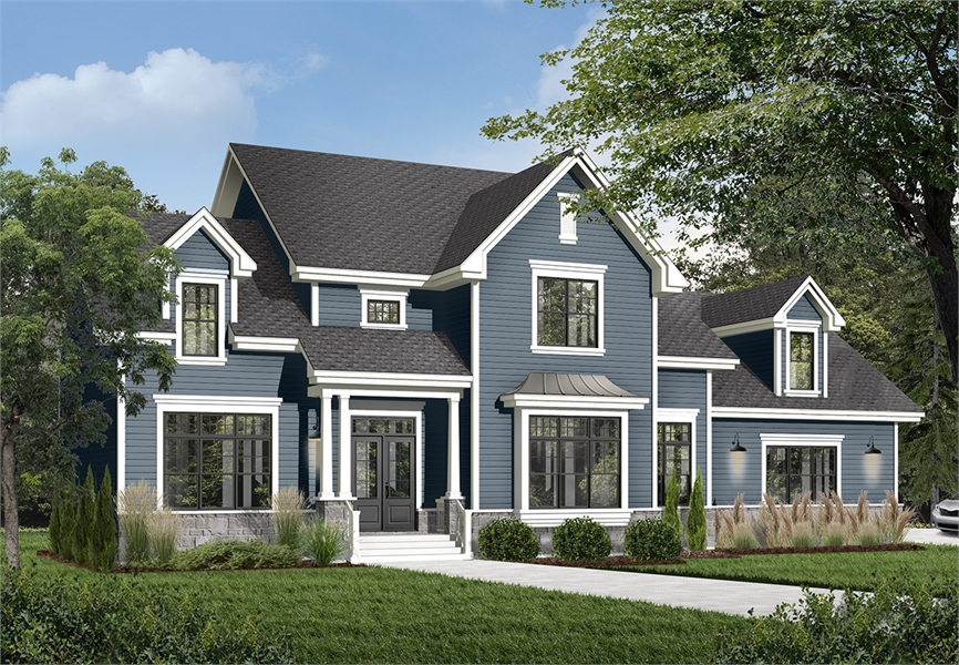 Large Country Home Design With 3 Car Garage And 4 Bedroom With Ensuite Bonus Room