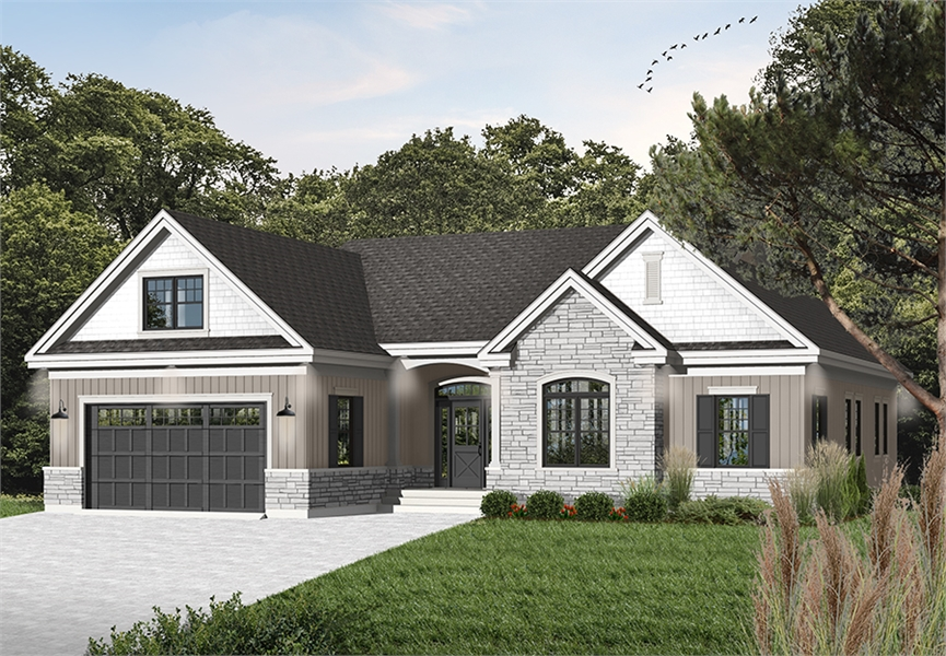 three-bedroom cottage house plan on blueprints for houses with open floor plans, mansion plans, i house architecture, i house home, home design floor plans, home builders floor plans, roof plans, split level home floor plans,