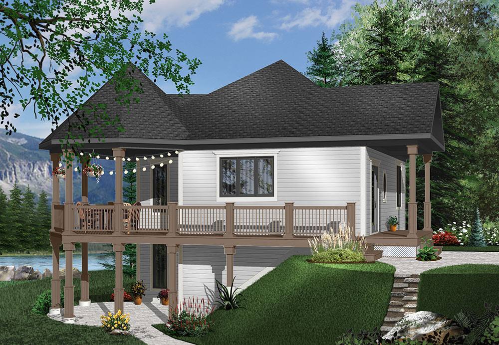 three-bedroom beach house plan