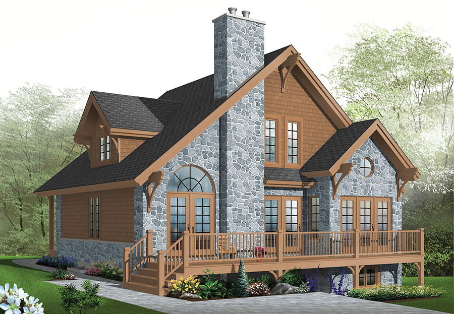 marvelous rear view house plans #9: image of The Touchstone 1 House Plan