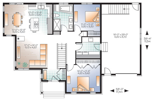 Ashbury 2 9517 2 bedrooms and 1 5 baths the house - Plan type de cuisine ...