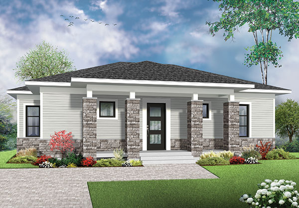 modern one-story house plan