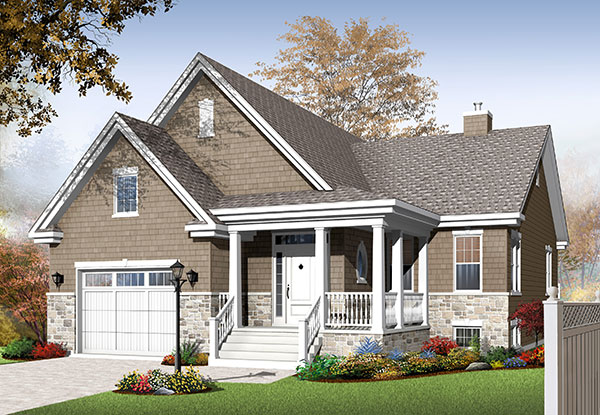 Bi-Level House Plans, Split-Entry & Raised Home Designs by THD