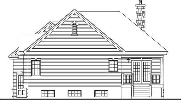 one-story cottage house plan