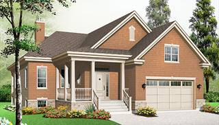 Bi-Level House Plans, Split-Entry & Raised Home Designs by THD